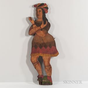 Two-sided Polychrome Painted Tobacconist Figure