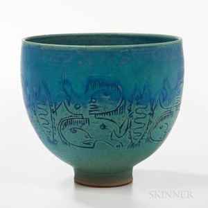 Edwin and Mary Scheier Studio Pottery Bowl