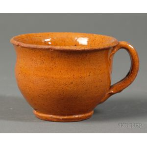 Small Redware Handled Cup
