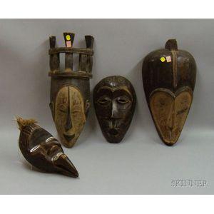 Four African Masks