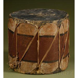 Southwest Painted Wood Drum