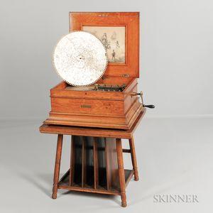 Regina 15-inch Disc Oak Music Box