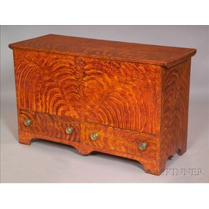 Fancy-painted Pine Chest over Two Drawers
