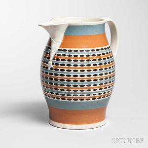 William Cullen Bryant Associated Mocha-decorated Pearlware Jug