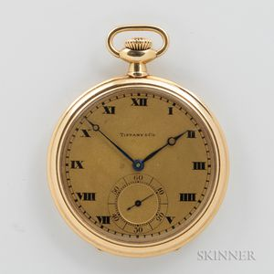 Tiffany & Co. 18kt Gold Open-face Watch