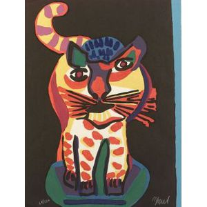 Karel Appel (Dutch/American, b. 1921)  Cat
