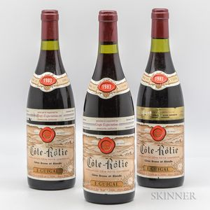 Guigal Cote Rotie Brune et Blonde 1983, 3 bottles