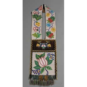 Great Lakes Beaded Cloth Bandolier Bag