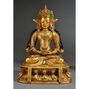 Gilt-bronze Bodhisattva