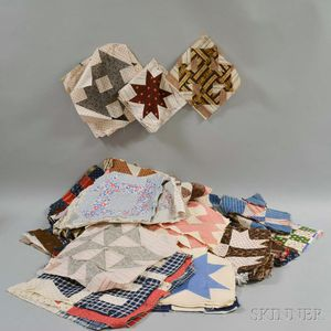 Group of Cotton Quilt Blocks