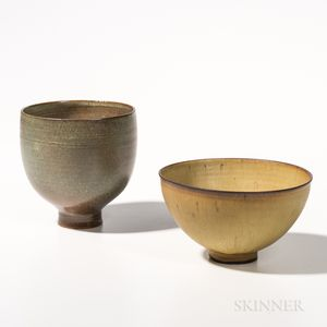 Two Edwin and Mary Scheier Bowls