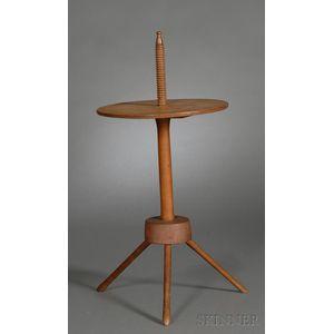 Shaker Maple and Oak Adjustable Light Stand