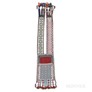 Great Lakes Loom-beaded Bandolier Bag