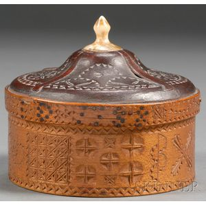 Sailor-made Chip-carved Covered Trinket Box