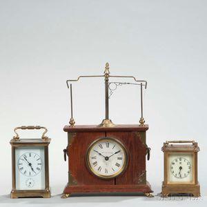Flying Pendulum Ignatz and Two Carriage Clocks