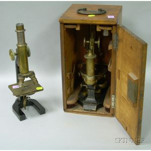 Busch Compound Microscope and a Cased Bausch & Lomb Optical Co. Compound Microscope.