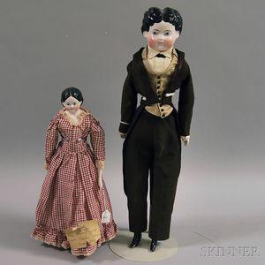 Two German China Head Dolls