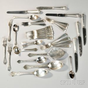 Group of Assorted English Flatware
