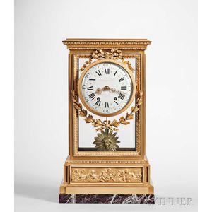 Raingo Freres Gilt and Glazed Mantel Clock