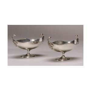 Pair of Sterling Sauce Boats