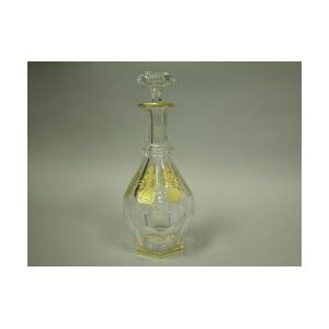 Baccarat Gilt Decorated Crystal Decanter.