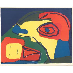 Karel Appel (Dutch, b. 1921)      La Maman aux Yeux Bleus