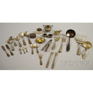 Group of Silver Flatware and Dresser Articles