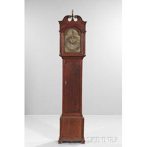 Walnut Tall Clock Attributed to Jonathan Mulliken