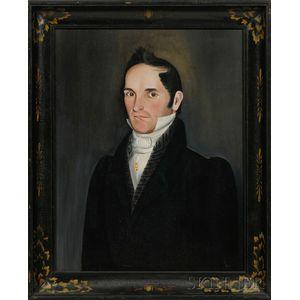 Sheldon Peck (Vermont, New York, and Illinois, 1797-1868)      Portrait of Hiram Augusta Adams (1799-1883).