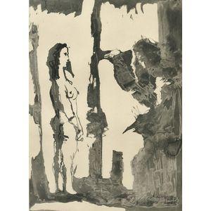 Pablo Picasso (Spanish, 1881-1973)      Artiste et modèle