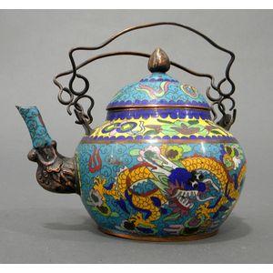 Cloisonne Enameled Teapot