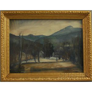 George Elmer Browne (American, 1871-1946)      Winter Landscape