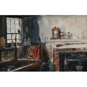 John Whorf (American, 1903-1959)      Abandoned Farm, no. 2