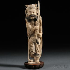 Ivory Carving of a Warrior General