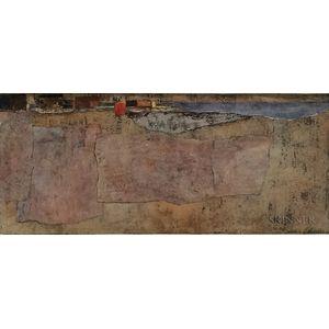 Joseph Peter Gualtieri (American, 1916-2015)      Abstract Coastal View Collage