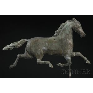 Molded Copper Trotting Horse Weather Vane