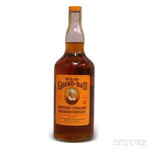 Old Grand Dad Kentucky Straight Bourbon Whiskey 1963, 1 quart bottle