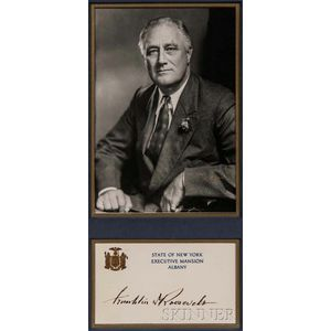 Roosevelt, Franklin Delano (1882-1945) Signed New York State Governor