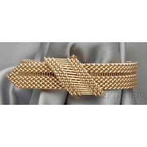 14kt Gold Buckle Bracelet