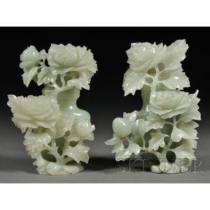 Pair of Jade Vases