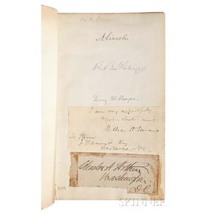 Political Autographs, Abraham Lincoln, Chester A. Arthur, Rutherford B. Hayes, and Others.