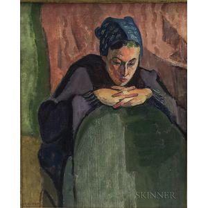 Jack N. Kramer (American, 1923-1983)      Pensive Girl