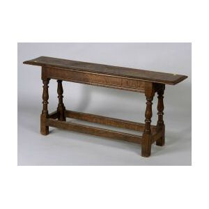 William and Mary Style Oak Tavern Bench