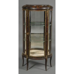Louis XV Style Painted and Brass-mounted Vitrine