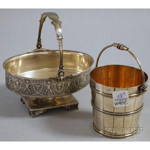 Starr & Marcus Neo-classical Footed Basket and a Sterling Silver Pail