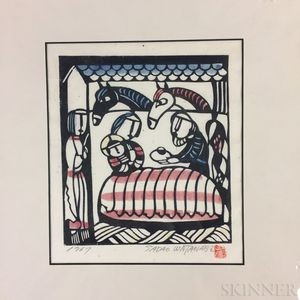 Sadao Watanabe (1913-1996) Woodblock Print