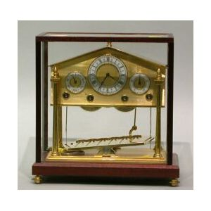 Cased Reproduction Brass Congreve Clock.