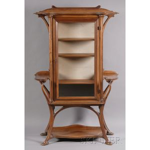 French Art Nouveau Walnut Etagere Attributed to Gustave Serruier-Bovy