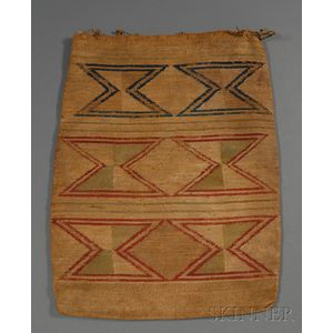 Large Plateau Polychrome Cornhusk Bag