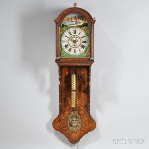 Marquetry Dutch Hood Clock